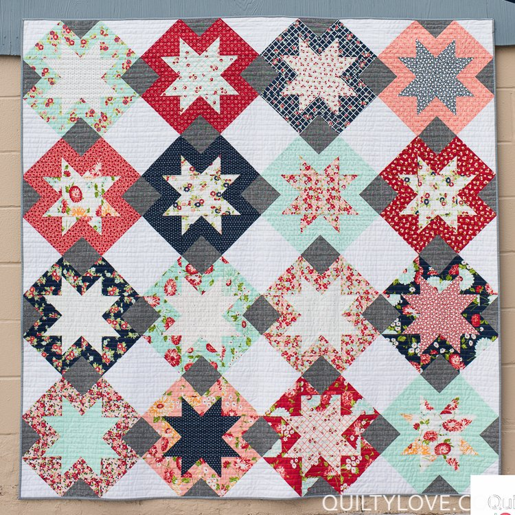 North Star Quilt Pattern in 4 Sizes by Quilty Love