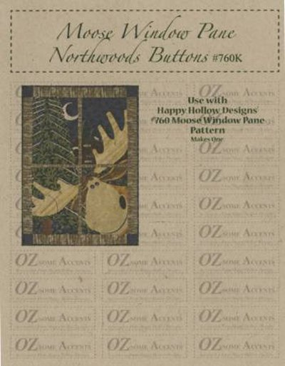 Northwoods Moose Window Pane Quilt Embellishment Kit by Happy Hollow Designs