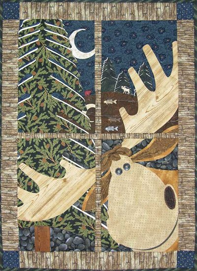 Northwoods Moose Window Pane Quilt Pattern by Happy Hollow Designs
