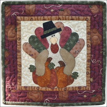 November Turkey Applique Pattern by The Wooden Bear
