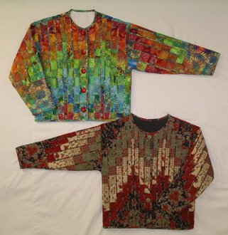 Fractured Bargello Jacket Pattern by Nanette's Quilts