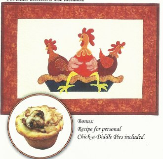 Chick-a-Diddle Pie Placemats and Potholders Pattern by Needlesongs