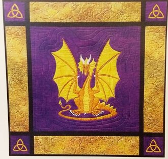 Dragon on Guard Wallhanging Pattern by Needlesongs
