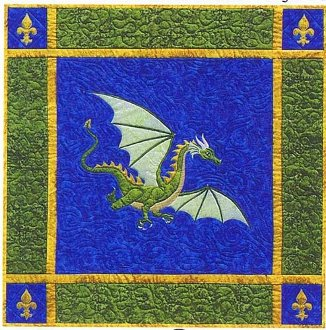 Dragon on the Wind Pattern by Needlesongs