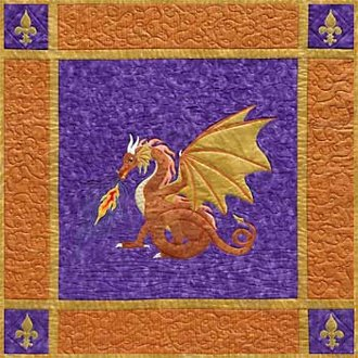 Dragonfire Wallhanging Pattern by Needlesongs
