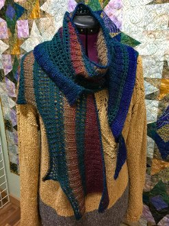 Facets of Michigan Series - Winter Pines for December Shawl Kit