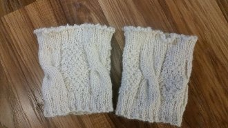 Knitted Boot Cuffs Kit and Pattern - Skill Builder Series at North Woods Knit & Purl