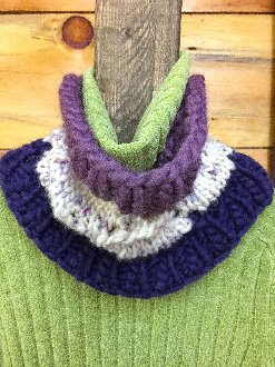 Tri-Colored Twig Cowl - A Skill Builder Kit from North Woods Knit & Purl