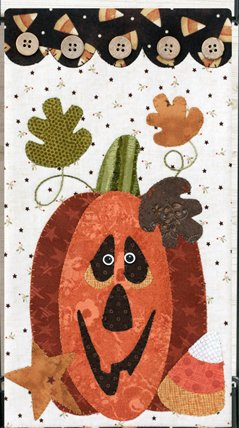 October Halloween Treat Pumpkin Applique Pattern and Button Packs by The Wooden Bear