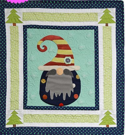 Olaf the Gnome January from the Gnomio Quilt EPattern by Charisma Horton