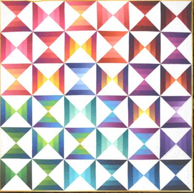 Ombre Hourglass Quilt Pattern by Needle in a Hayes Stack