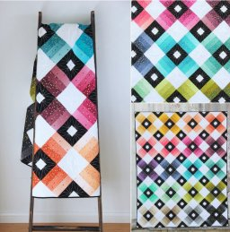 Ombre Lattice Quilt Pattern by V and Company