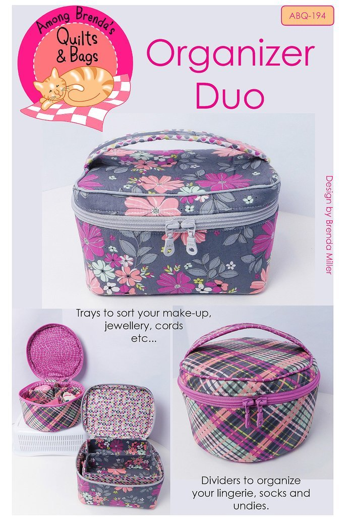 Organizer Duo Pattern in 2 Styles by Among Brenda's Quilts