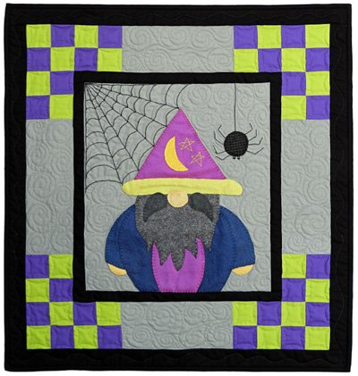 Oscar the Gnome October Block from the Gnomio Quilt EPattern by Charisma Horton