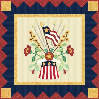 Star Spangled Holiday Wallhanging and Table Set Pattern by P3 Designs