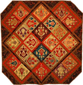 Autumnal Equiblox Quilt Pattern by Presto Avenue Designs