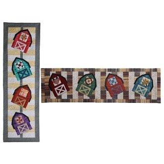 Barn Dance Wall Quilt or Tablerunner Pattern by Presto Avenue Designs