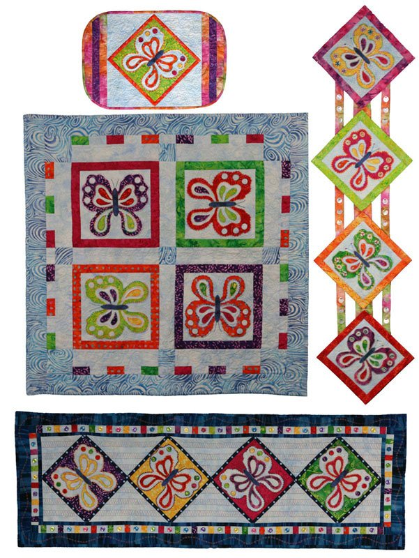 Butterfly Collection Quilt Tablerunner Placemat Pattern by Presto Ave Designs