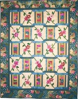 Ribbon Trellis Quilt Pattern by Presto Avenue Designs