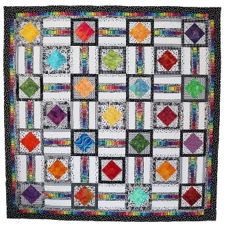 Uptown Squares Quilt Pattern by Presto Avenue Designs