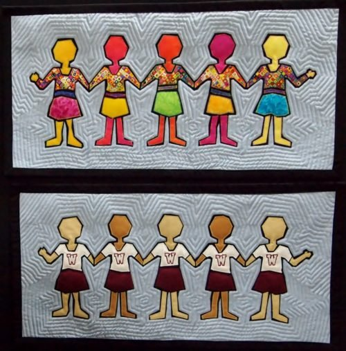 Paper Dolls Girls Wallhanging Pattern by Another by Anita