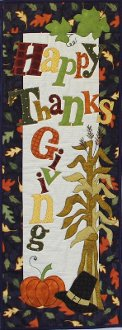Happy Thanksgiving Wallhanging/Door Banner Pattern by Patchabilities