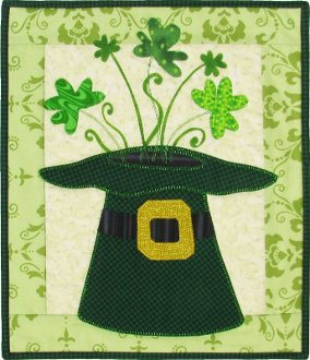 Leprechaun's Hat Wallhanging Pattern by Patchabilities