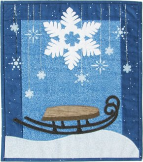 Sledding With Flakes Wallhanging Pattern by Patchabilities