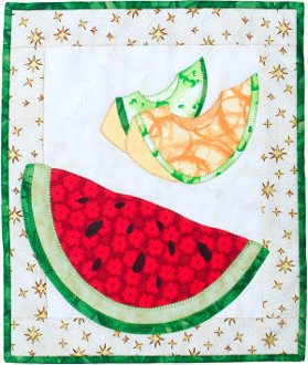 Summer Ripe Melons Small Quilt Pattern by Patchabilities