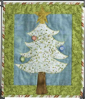 Tinsel Tree Wallhanging Pattern by Patchabilities