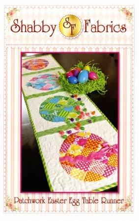Patchwork Easter Egg Tablerunner Pattern by Shabby Fabrics