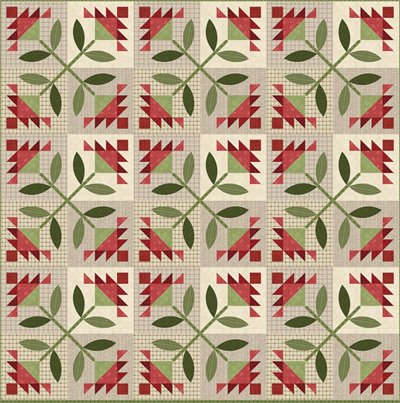 Patchwork Petals Quilt Pattern by All Through The Night