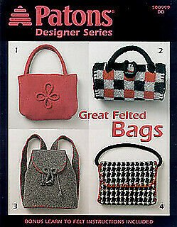 Patons Designer Series Great Felted Bags Pattern Book 500999DD by Patons