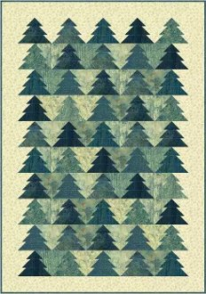 Pine Grove Quilt Pattern in 4 Sizes by Patti Carey