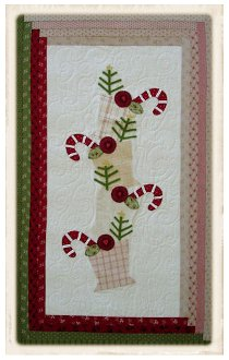 Candy Cane Christmas Wallhanging Pattern by Plum Cute Designs