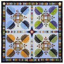 Perennial Plumes Quilt Pattern in 2 Sizes by Anything But Boring