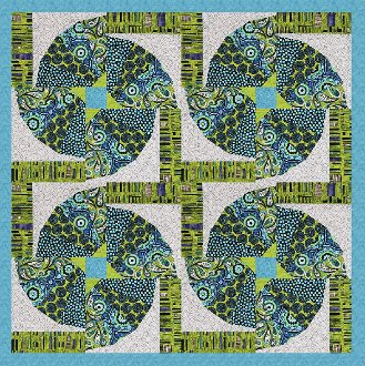Four of a Kind Quilt Pattern by Phillips Fiber Art