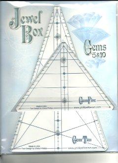 Jewel Box Gems 5 and 10 Acrylic Tool by Phillips Fiber Art