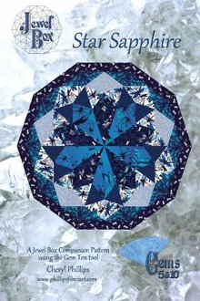 Star Sapphire Quilt Pattern by Phillips Fiber Art