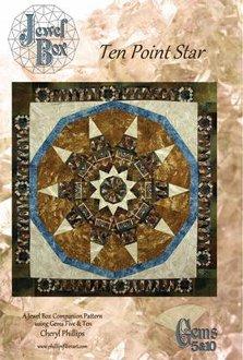 Ten Point Star Quilt Pattern by Phillips Fiber Art
