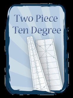 Two Piece 10 Degree Ruler by Phillips Fiber Art