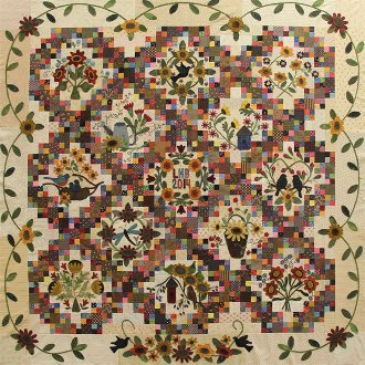 Sunflower Gatherings Quilt Pattern by Primitive Gatherings