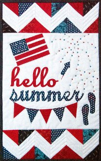 Hello Summer Banner Pattern by Poorhouse Quilt Designs
