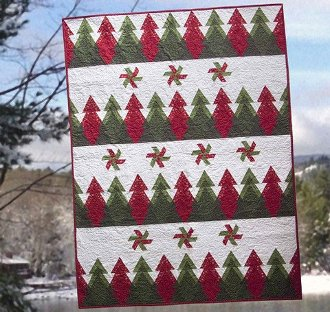 Pine Ridge Throw and Pillow Pattern by Poorhouse Quilt Designs