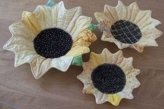 Sunflower Nesting Bowls Pattern by Poorhouse Quilt Designs