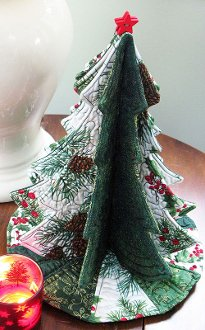 Tabletop Tannenbaum 3-D Christmas Tree Decoration by Poorhouse Quilt Design