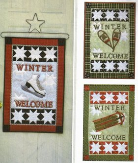 Winter Welcome Banner Pattern by Poorhouse Quilt Design