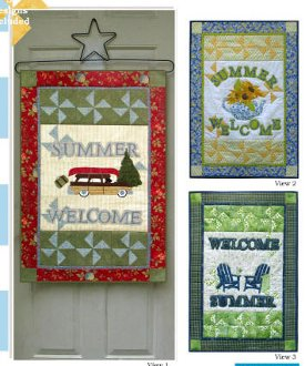 Summer Welcome Banner Pattern by Poorhouse Quilt Design