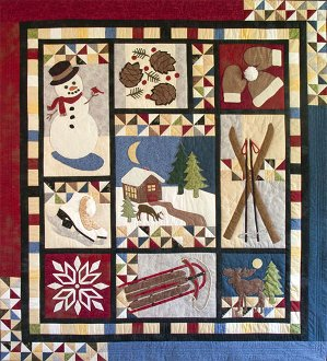Winter Memories Sampler Quilt Pattern by Poorhouse Designs