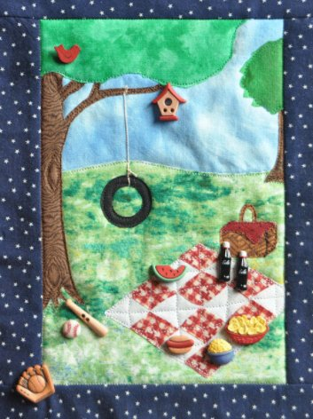 A Picnic Set of 11 Buttons by Dress It Up